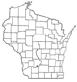 Location of Troy, Sauk County, Wisconsin