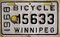 WINNIPEG MANITOBA 1968 -BICYCLE PLATE - Flickr - woody1778a.jpg