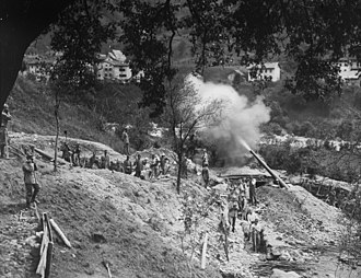 Battle of Mount Ortigara - Image: WWI Monte Ortigara Heavy Italian artillery fires