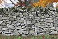 Wal garreg Gwernaffield dry stone wall North Wales.JPG