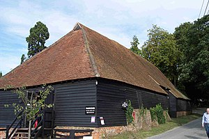 Wanborough, Surrey - The exterior of the Great Barn.