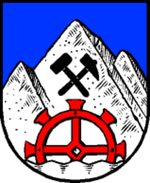 Hammer and pick - Image: Wappen at muehlbach am hochkoenig