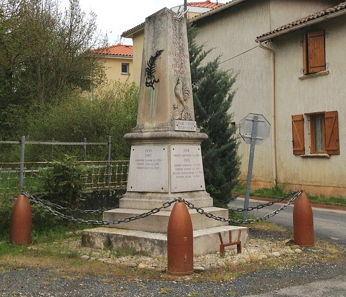 War memorial of Rancé (Ain).