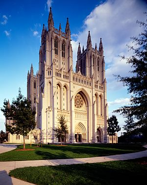 "Washington National Cathedral - Washington National Cathedral is officially dedicated as the ""Cathedral Church of Saint Peter and Saint Paul in the City and Diocese of Washington""."