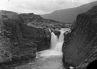 Waterfall on river Rheidol