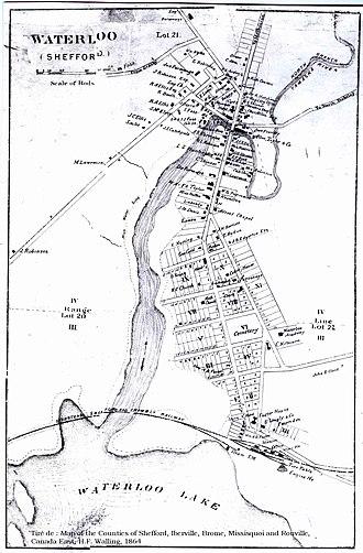 Waterloo, Quebec - Waterloo towards 1864.