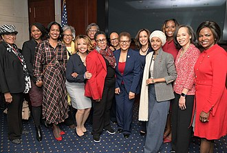 Ilhan Omar - Welcoming several of the new female Congressional Black Caucus members in January 2019