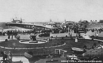 Grand Pier, Weston-super-Mare - Before the 1930 fire.