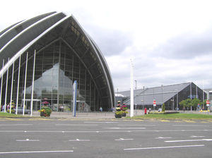 63rd World Science Fiction Convention - The Clyde Auditorium with the main SECC building behind it
