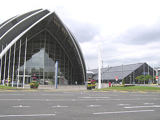 SEC Centre - The Clyde Auditorium with the main SECC building behind it