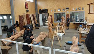 New Zealand Māori Arts and Crafts Institute - The carving school