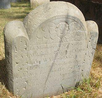John Whipple (settler) - Grave stone for Sarah Whipple, wife of John