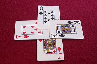 Rams (card game) - Image: Whist type trick