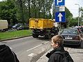 White Star 1142-based waste collection truck on Władysława Reymonta street in Kraków (1).jpg
