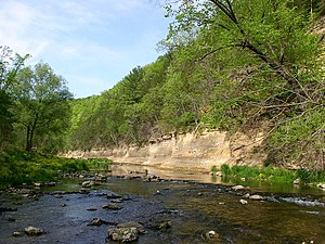 Whitewater State Park - The Whitewater River in Whitewater State Park