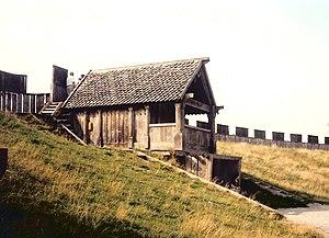 Trelleborg - Trelleborgen, a reconstructed Viking ring castle in Trelleborg