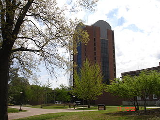 University of Memphis - Wilder Tower; the tallest building of the University's main campus