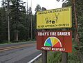 Wildlife and fire danger signs at Northeast Entrance (14734278129).jpg