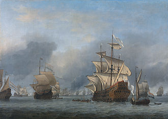English ship Prince Royal (1610) - The surrender of Prince Royal at the Four Days Battle, 3 June 1666, by Willem van de Velde the Younger