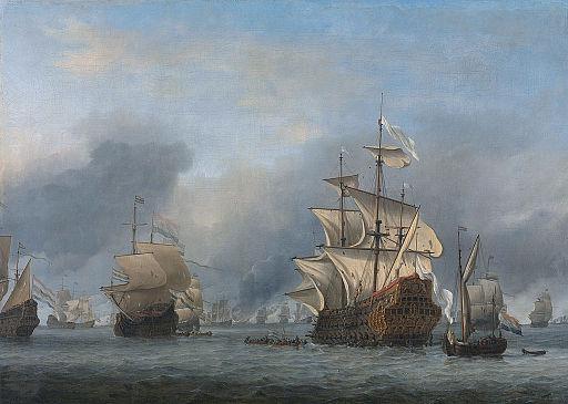 Willem van de Velde (II) - De verovering van het Engelse admiraalschip de 'Royal Prince'