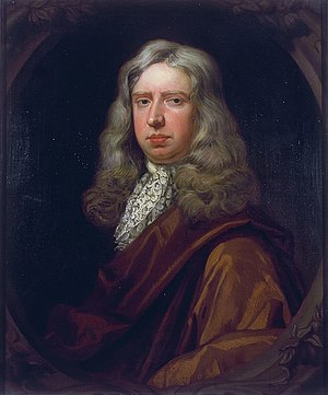William Hewer - William Hewer as painted by Sir Godfrey Kneller, 1689. This portrait, along with one of Samuel Pepys painted by Kneller, remained with Pepys family heirs until the 20th century.