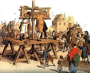 Humiliation - The Pillory, from The Costume of Great Britain (1805)