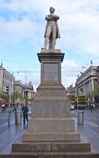 William Smith O'Brien - Originally erected on the south quays, this 1870s statue was moved to Dublin's O'Connell Street in 1929