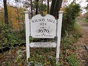 Wilson-Mill-Sign BedfordMA sm
