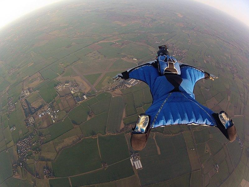File:Wingsuit Flying over Langar Airfield UK.jpg