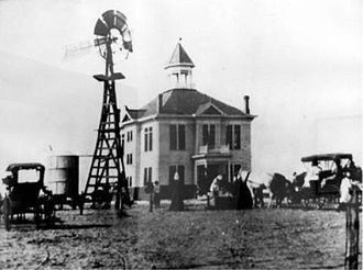 Kermit, Texas - Old Winkler County Courthouse in Kermit, ca. 1910