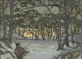 Winter Study from Djurgården, Stockholm (Anna Boberg) - Nationalmuseum - 20547.tif