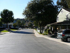 "Colonial Street - Colonial Street as ""Wisteria Lane"" on the ABC show Desperate Housewives (2006)"