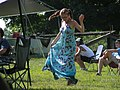 Woman dancing Save Our Parks Bluegrass Festival George Rogers Clark Park Springfield OH August 2010.jpg