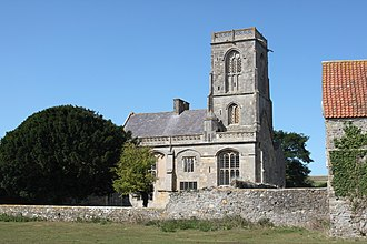 Woodspring Priory - The Priory Church from the south