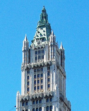 Cass Gilbert - The top of the Woolworth Building