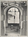Workers cleaning the pylons of the Harbour Bridge, 1932 (8282705033).jpg