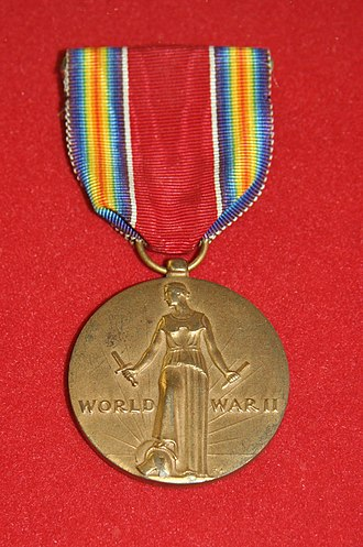 World War II Victory Medal (United States) - Image: World War 2Victory Medal US