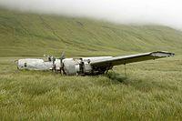 Flugzeug wreckage.jpg des Weltkriegs 2