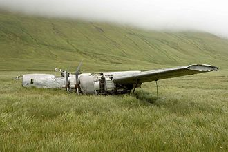 World War II Valor in the Pacific National Monument - Atka B-24D Liberator on Atka Island, Alaska.