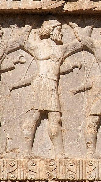 Paropamisadae - Xerxes I tomb, Gandharan soldier of the Achaemenid army, circa 480 BCE.