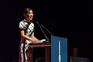Xia Jia - Xia Jia at the Hugo Award Ceremony at Worldcon in Helsinki.