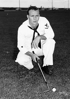 YN3 Arnold Palmer, 23, played in the North and...