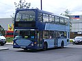 YN53 RYV metrobus Scania Omnicity 483. Olympic games vehicle (7741036166).jpg