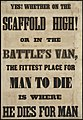 Yes! Whether on the scaffold high! Or in the battle's van, the fittest place for man to die is where he dies for man. (7645379908).jpg