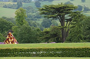 Yorkshire Sculpture Park - A fragment of Yinka Shonibare MBE sculpture and YSP landscape