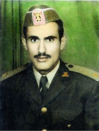 Ali Abdullah Saleh - Young Ali Saleh in the Imamate Army of Yemen uniform