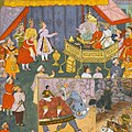 Yudhisthira ask permission to bhishma for war.jpg