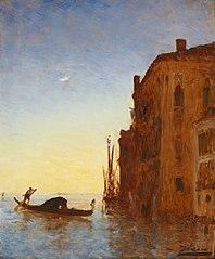 Gondole sur la lagune, Venise