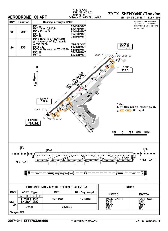 CAAC airport chart