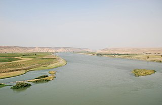 Euphrates river in Asia